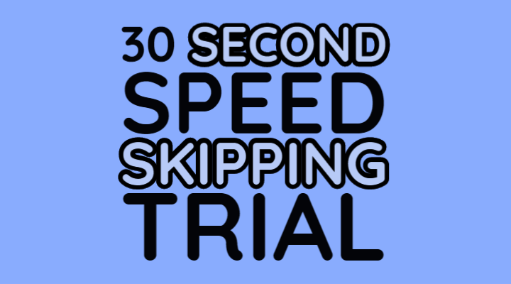 virtual skipping league 30 seconds speed trial